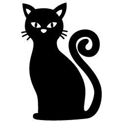 Black Cat 333 With Images Halloween Stencils Halloween
