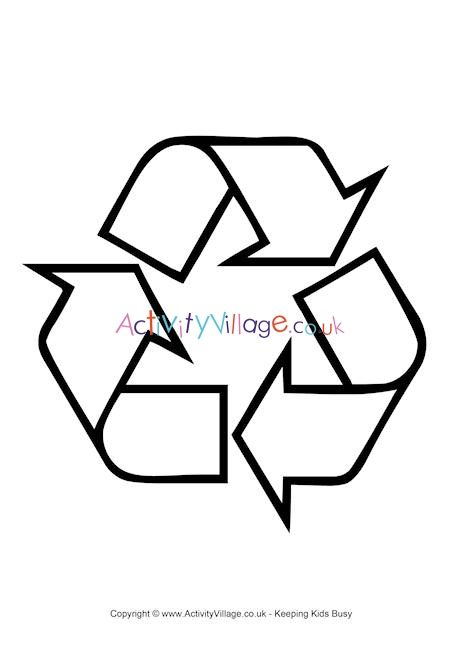 Recycling Logo Colouring Page Coloring Pages Recycling Logos