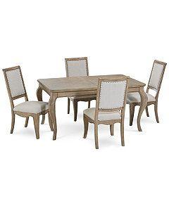 Martha Stewart Bergen Dining Furniture 5 Pc Set Expandable