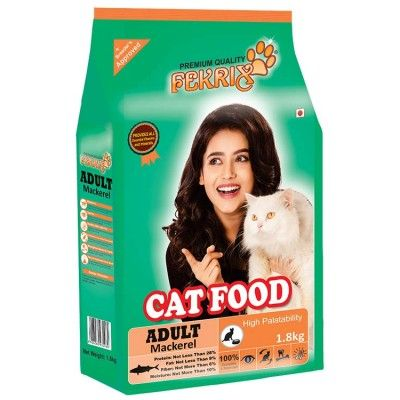 Fekrix Adult Cat Food With Real Mackerel 1 8 Kg Kitten Food Cat Food Kitten