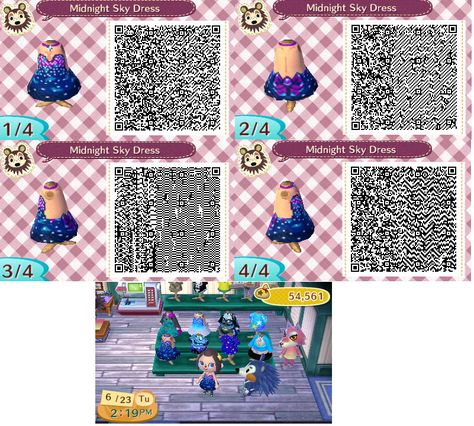 It seemed a lot of people liked my blue sparkly dress qr that I made and posted a long time ago, that I made another sparkly one similar to it. A starry sky dress Ages later, posts another : p ...a...