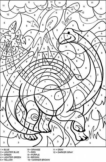 Colora Coi Numeri I Dinosauri Projects Dinosauri Colori E