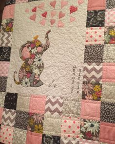 Pin By Ruth Cooper On Quilting Elephant Quilts Pattern Elephant Quilt Girl Quilts Patterns
