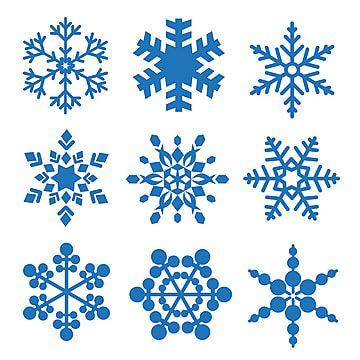 Schneeflocken Gesetzt Schneeflocke Vektor Sammlung Schnee Png Und Vektor Zum Kostenlosen Download Schneeflocken Selber Malen Icon Set