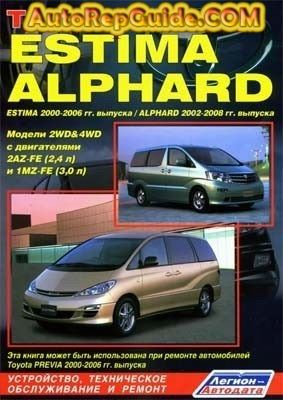 Download Free Toyota Alphard 2002 2008 Estima 2000 2006 Workshop Manual Image By Autorepguide Com Toyota Alphard Toyota Previa Toyota