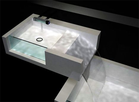 Sink/bathtub/waterfall. A perfect solution for washing your hair ...