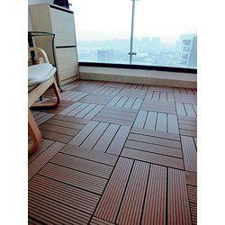 Ez Floor 12 X 12 Teak Wood Snap In Deck Tiles In Oiled Deck Tiles Building A Deck Outdoor Deck Tiles