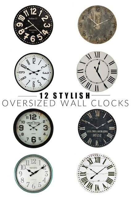 12 Stylish Oversized Wall Clocks In 2020 Oversized Wall Clock Wall Clock Clock