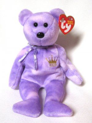 8.5 inch TY Beanie Baby Hallmark Gold Crown Exclusive YOURS TRULY the Bear