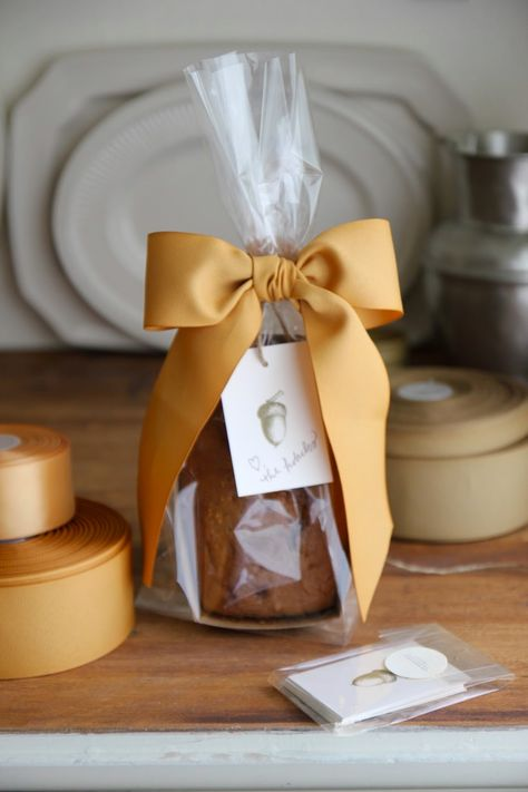 Gift Wrapping Homemade Bread ~ Autumn Hostess or Party Favor Gifts
