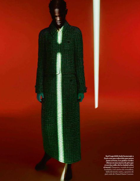 Shanelle Nyasiase Is Green Goddess Elegance by Txema Yeste for Vogue Spain August 2018