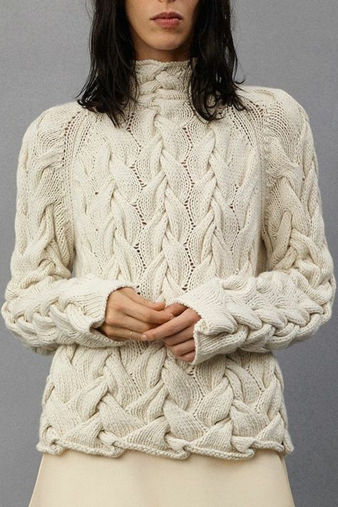 The Row - Resort WOW, gorgeous cable knit sweater
