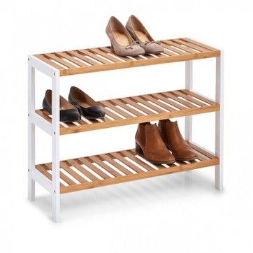 Etagere A Poser Rangement Chaussures Bois Bambou 3 Etages Zeller Present La Redoute Rangement Chaussures Mobilier De Salon Meuble Chaussure
