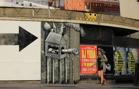 Best Phlegm Images On Pinterest Graffiti Sheffield And - Awesome mechanical shark mural phlegm