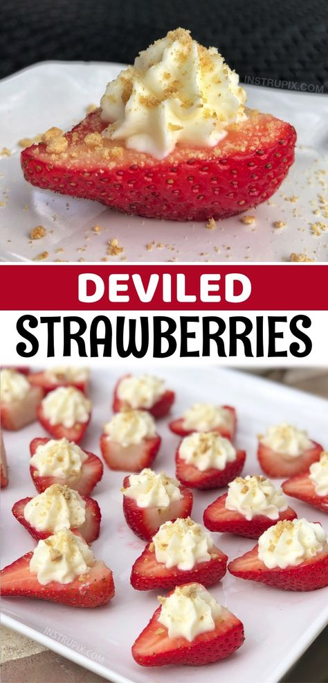 Strawberry Recipes, Fruit Recipes, Appetizer Recipes, Sweet Recipes, Baking Recipes, Snack Recipes, Dessert Recipes, Snacks, Strawberry Cheesecake