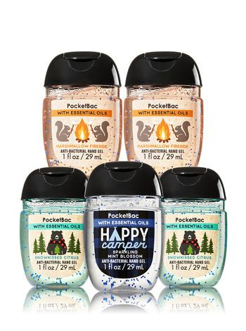 Winter Wellness 5 Pack Pocketbac Sanitizers Bath And Body Works