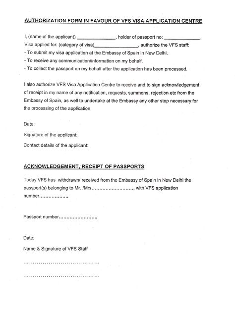Indian Visa India Parental Consent Letter For Minor Passport   Passport  Consent Forms