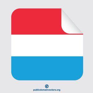 Publicdomainvectors Org Luxembourg Flag Peeling Label Luxembourg Flag Flag Vector Flag