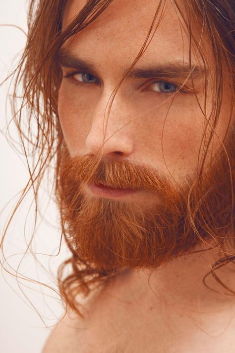 Robin Nolan - the hair and the beard and, unusually for the family, blue eyes
