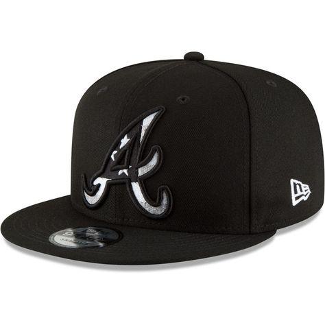 sports shoes 03d47 335de Atlanta Braves New Era Flag Fill 9FIFTY Adjustable Hat – Black
