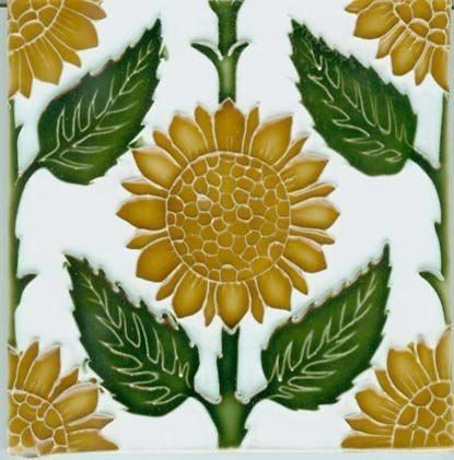 90 Sunflower Tiles Ideas Sunflower Tiles Sunflower Wall Art