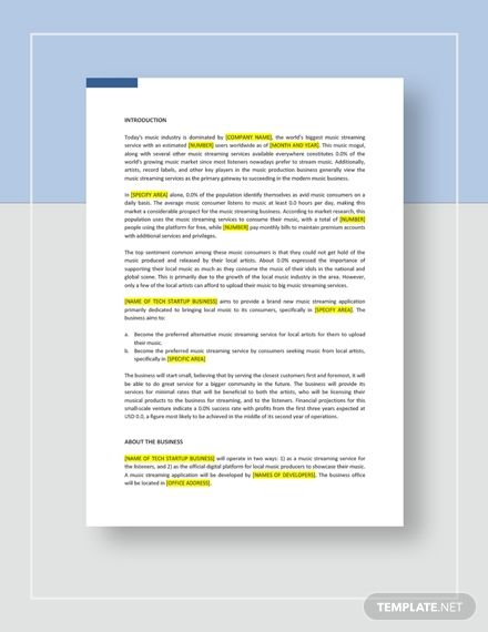 Tech Startup Business Plan Template Free Pdf Google Docs Word Apple Pages Template Net Startup Business Plan Startup Business Plan Template Business Plan Template Free