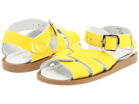 697643f25b2 Salt Water Sandal by Hoy Shoes The Original Sandal (Infant Toddler) (Shiny  Yellow) Girls Shoes. The very Original Salt-Water Sandals. Water-friendly  leather ...
