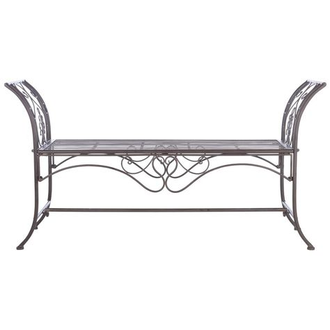 Ophelia  Co. Geddes Metal Garden Bench  Reviews | Wayfair