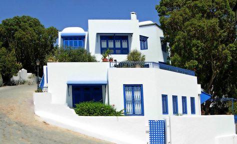 Villa Tunisienne De Sidi Bou Said Sidi Bou Said Villa Et Tunisie