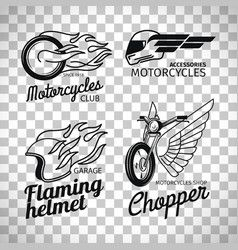 Motorcycle Race Logo On Transparent Background Vector Vector