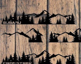 Forest And Mountains Full Decal Set Vinyl Decal Subaru Crosstrek Outback Forester Impreza Wrx Subaru Crosstrek Subaru Car And Motorcycle Design