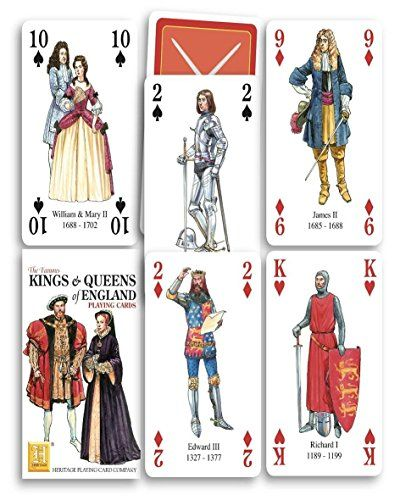 Kings And Queens Of England Playing Cards Heritage Playin Https