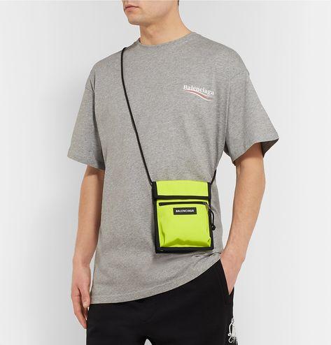 BALENCIAGA EXPLORER CANVAS MESSENGER BAG. #balenciaga #bags #shoulder bags #wallet #canvas #accessories