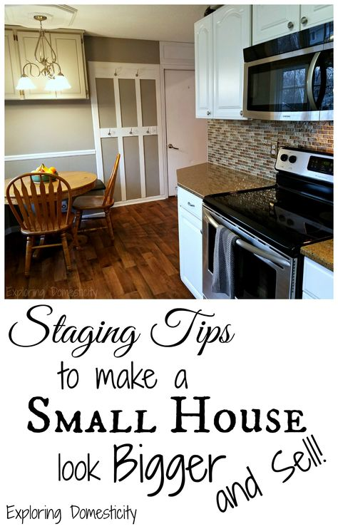 Staging Tips to Make a Small House Look Bigger and Sell ⋆ Exploring Domesticity