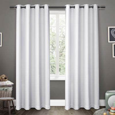 Exclusive Home Curtains Drape Ek5308 0 Sateen 52 In X 96 In Kids Window Curtain Panel Pair Home Curtains White Blackout Curtains Kids Window Curtains 96 black out curtains