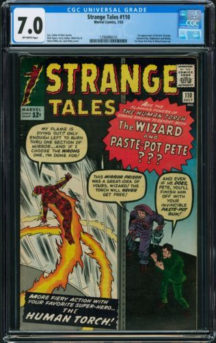 Strange Tales 110 Cgc 7 0 Off White Pages 1st Appearance Of Dr Strange Strange Tales Doctor Strange Comic Comics