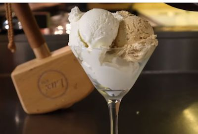 أيس كريم فانيلا وكراميل بالبيت بالفيديو Cream Ice Cream Blog