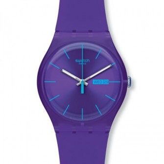 {Watches} Swatch watch in purple & turquoise ⌚