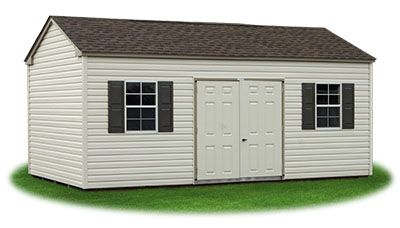 12x20 Vinyl Sided Side Entry Peak Storage Shed Available At Pine Creek Structures Shed Storage Shed Vinyl Siding