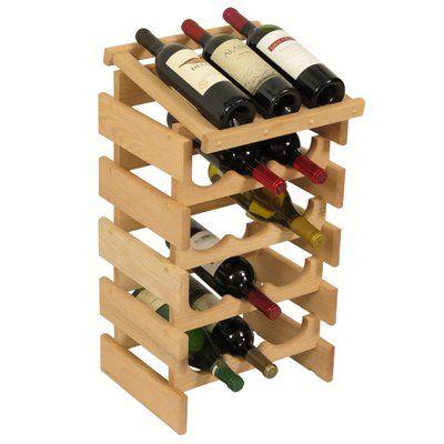 Symple Stuff Geis 15 Bottle Floor Wine Rack Finish Unfinished In