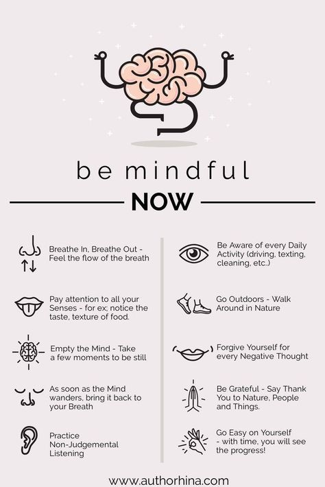 This is how you can stay mindful all day, every day. A mindful infographic.