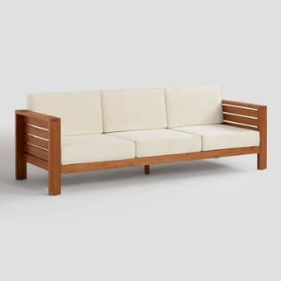 Ranch Luxe Rooms Inspirations World Market Outdoor Sofa Used