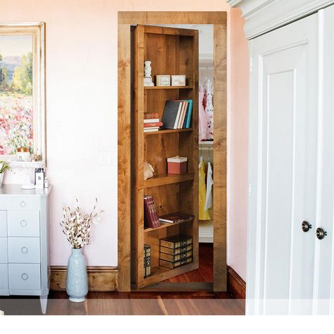 Brighten up your home with The Murphy Door Assembled Flush Mount Bookcase Door at The Home Depot. Interior Closet Doors, Murphy Door, Bookcase Door, Secret Door Bookshelf, Bookshelf Closet, Decoration, Home Projects, Home Remodeling, Home Depot