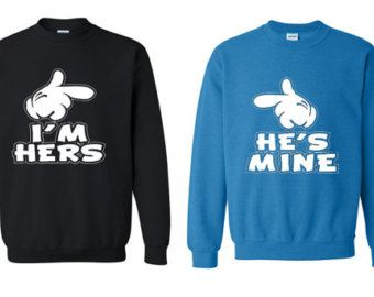 Mrs Mr en Hi's mine Im Hers Hoodie.