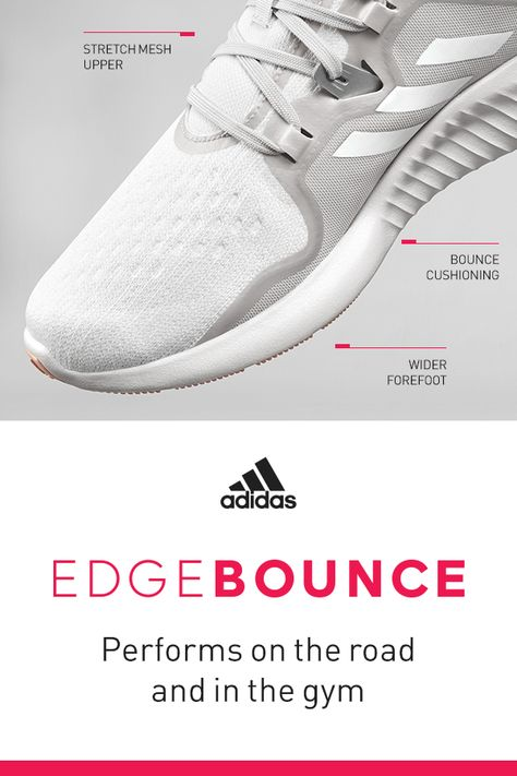 the best attitude 2ef27 a9d8c Shoes that perform in both running and studio workouts. The adidas  Edgebounce is a womens-specific running shoe built to be versatile.