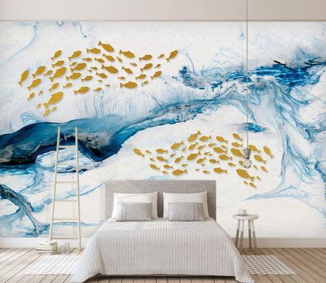 Sea Wave and Fish