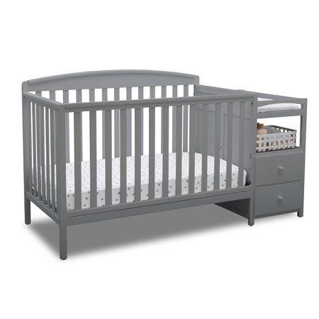Delta Children Royal Convertible Crib N Changer Gray Image 1 Of 7