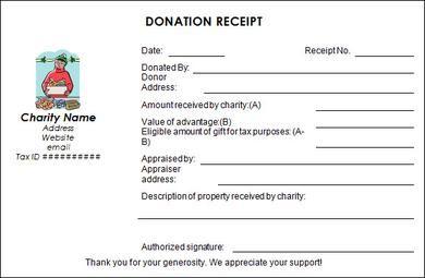 Printable 501c3 Donation Receipt Template