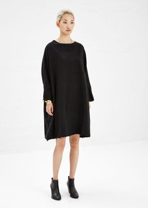 Black Crane Painter Dress in Black, $144 #totokaelo #blackcrane