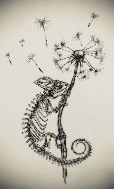 The Little Fat Rat Chameleons ?✨ - The Little Fat Rat Skeleton Drawings, Skeleton Tattoos, Dark Art Drawings, Skeleton Art, Tattoo Design Drawings, Art Drawings Sketches, Body Art Tattoos, Sleeve Tattoos, Cool Tattoos